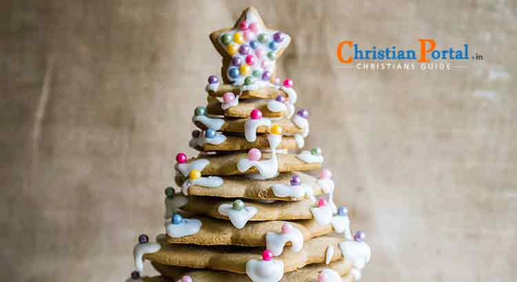gingerbread sandwich christmas tree recipe in telugu
